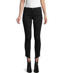 ag jeans women's pima frayed ankle skinny jeans - moonless - size 23 (00)