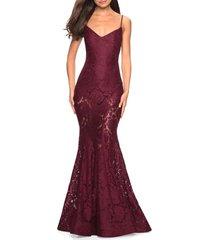 women's la femme lace mermaid gown