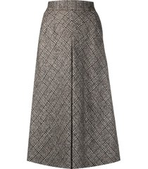dolce & gabbana glend plaid longuette skirt - brown