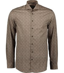 ledub overhemd - extra lang - bruin