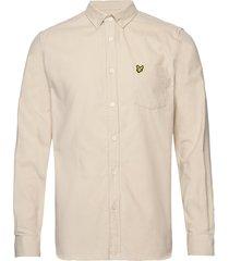 needle cord shirt overhemd casual beige lyle & scott
