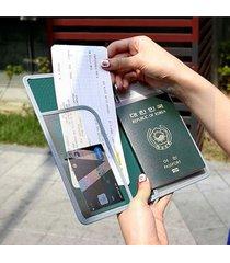 unisex pochette d'imbarco da passaporto a viaggio ed outdoor