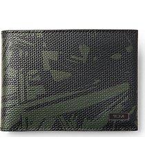 palm bi-fold leather wallet