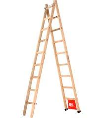 escada de madeira abre e estica santa catarina, 09 degraus - aem-09
