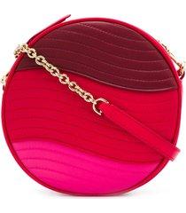 furla swing colour-block crossbody bag - red