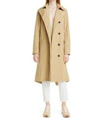 women's rag & bone classic trench coat, size large - beige