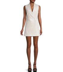 faux wrap sleeveless dress
