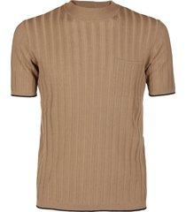roberto collina brown cotton t-shirt