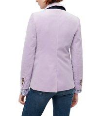 women's j.crew parke velvet blazer, size 8 - purple