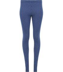 leggings estampado trama cuadros color azul, talla 6