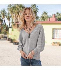 sundance catalog women's wistful cashmere sweater in silver gray xl