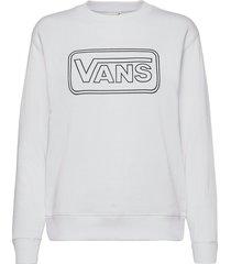 make me your own crew fleece sweat-shirt tröja vit vans