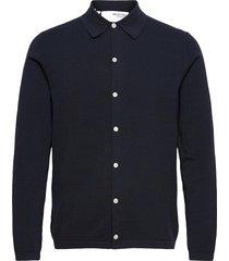 slhkygo knit cardigan b stickad tröja cardigan blå selected homme
