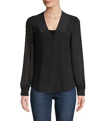 fallon textured button-down blouse