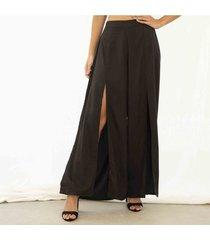 pantalon negro para mujer maverick pantalon maverick-negro-l