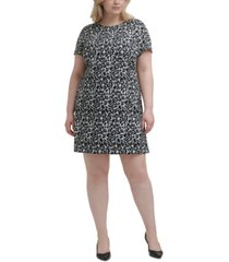 calvin klein plus size animal-print shift dress