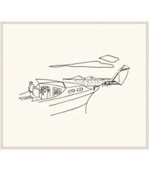 "beached sketch framed giclee wall art - 29"" x 33"" x 2"""