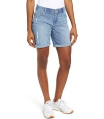 women's wit & wisdom ab-solution denim bermuda shorts, size 16 - blue (nordstrom exclusive)