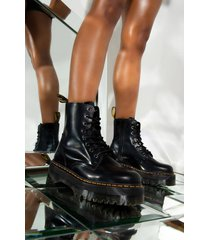 akira dr. martens jadon polished smooth chunky sole bootie in black