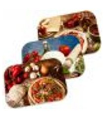 kit 3 capachos decorativos pizza 40cm x 60cm