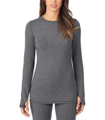 cuddl duds ultra cozy long-sleeve crewneck top