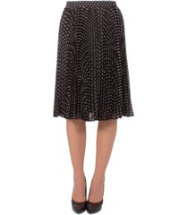 ny collection petite dot-print pleated skirt