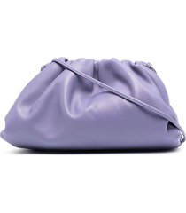 bottega veneta the mini pouch leather bag - purple