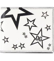 dolce & gabbana star print wallet - white