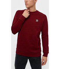 adidas originals essential crew tröjor burgundy