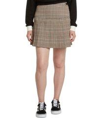 dickies pleated plaid skirt