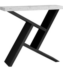 """monarch specialties accent table - 36"""" l cement-look hall console"""