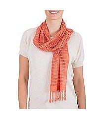 rayon scarf, 'canteloupe bliss' (guatemala)