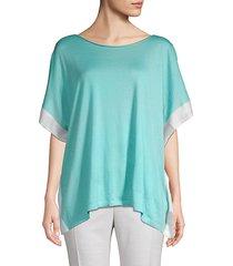 cashmere, wool & silk-blend top