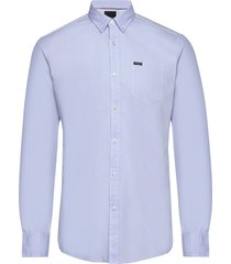 plain oxford shirt overhemd casual blauw lindbergh