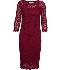 dress 3/4s jurk knielengte rood rosemunde