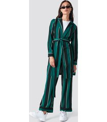 rut&circle striped dress jacket - green
