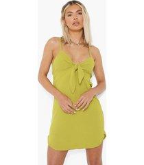 mini swing jurkje met strik, olive