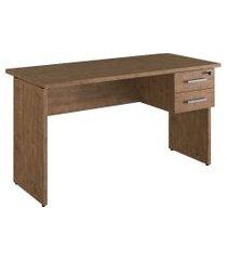 mesa com gaveteiro para escritório artesano ative 2 gavetas vermont