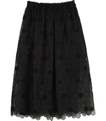 moncler floral embroidery skirt