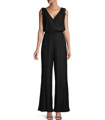 pleated sleeveless jumpsuit