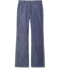 piped trim wide leg pants