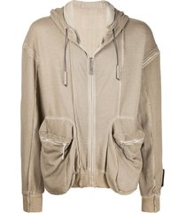 a-cold-wall* back patch zip hoodie - neutrals