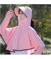 sombrero de sol anti-ultravioleta de verano para mujer-rosa