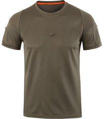 camiseta de los hombres deportes al aire libre senderismo camiseta