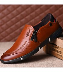 cerniera laterale morbida con cerniera laterale per uomo. slip on casual shoes