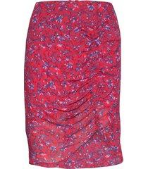maia knälång kjol röd custommade