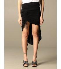 n° 21 skirt n°21 skirt in asymmetrical jersey