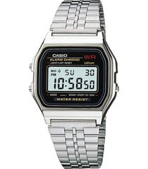 reloj casio a_159wa_n1 plateado acero inoxidable