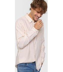 camisa beige lacoste