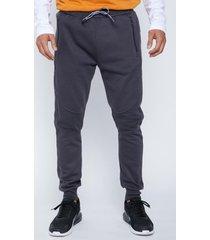 pantalon  aplicacion en rodilla gris family shop